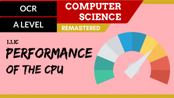 OCR A'LEVEL SLR01 Performance of the CPU