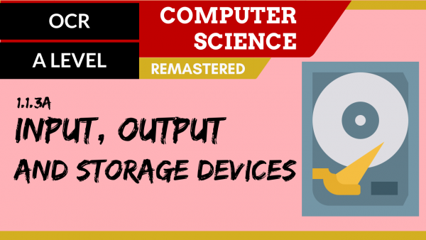 OCR A'LEVEL SLR03 Input, Output and Storage devices