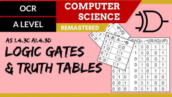 OCR A'LEVEL SLR15 Logic gates and truth tables