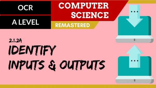 OCR A'LEVEL SLR19 Identify inputs and outputs