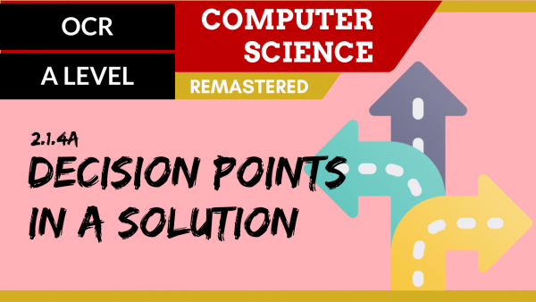 OCR A'LEVEL SLR21 Decision points in a solution