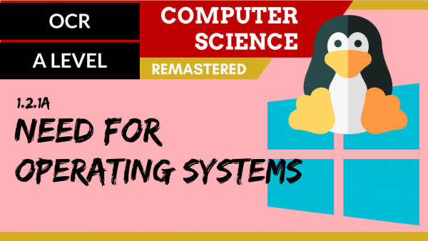 OCR A'LEVEL SLR04 Need for operating systems