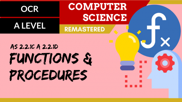 OCR A'LEVEL SLR23 Functions and procedures