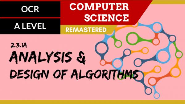 OCR A'LEVEL SLR25 Analysis and design of algorithms