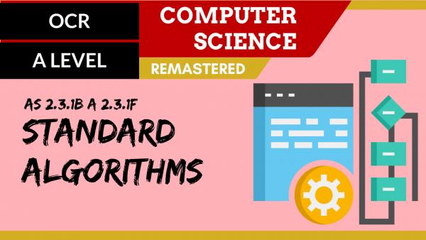 OCR A'LEVEL SLR25 Standard algorithms