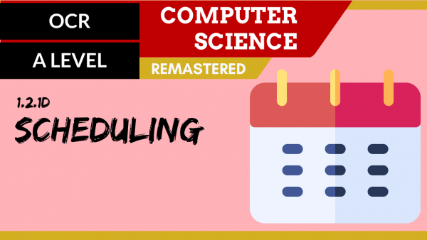 OCR A'LEVEL SLR04 Scheduling
