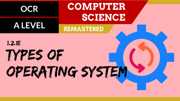 OCR A'LEVEL SLR04 Types of operating system