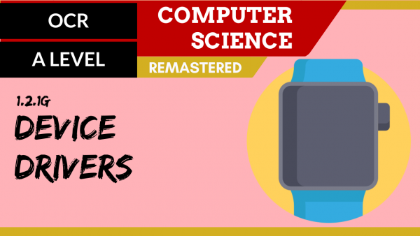 OCR A'LEVEL SLR04 Device drivers