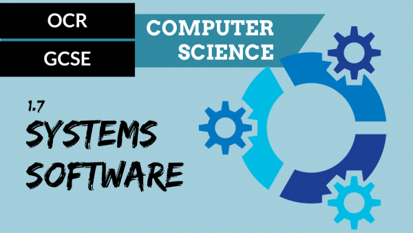 OCR GCSE SLR1.7 The purpose and functionality of systems software