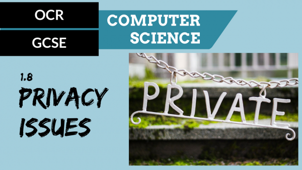OCR GCSE SLR1.8 Privacy Issues