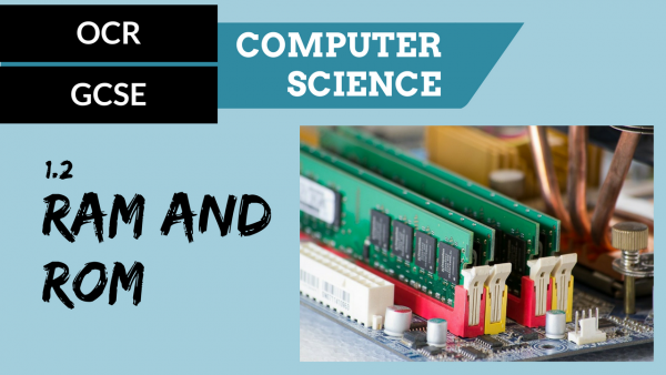 OCR GCSE SLR1.2 RAM and ROM