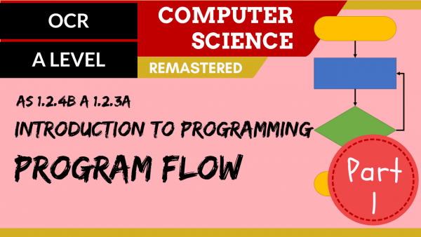 OCR A'LEVEL SLR08 Intro to programming – Part 1, program flow