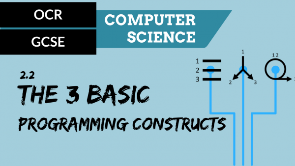 OCR GCSE SLR2.2 The use of the three basic programming constructs