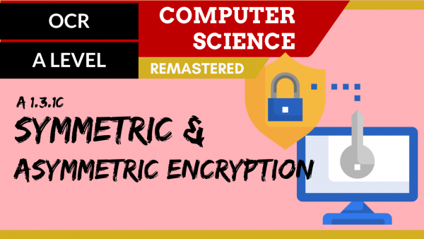 OCR A'LEVEL SLR09 Symmetric & asymmetric encryption