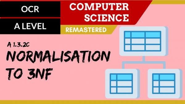 OCR A'LEVEL SLR10 Normalisation to 3NF