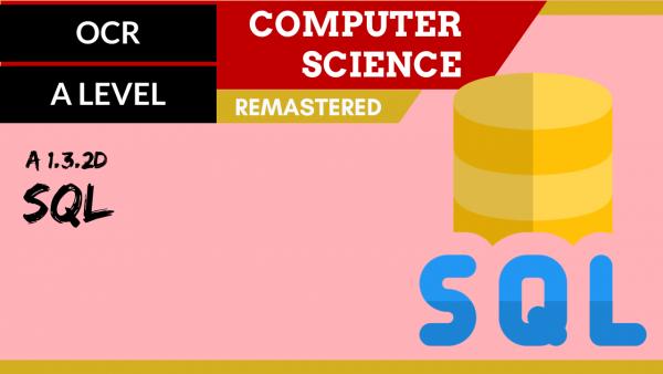 OCR A'LEVEL SLR10 SQL