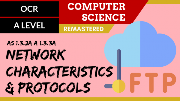 OCR A'LEVEL SLR11 Network characteristics & protocols