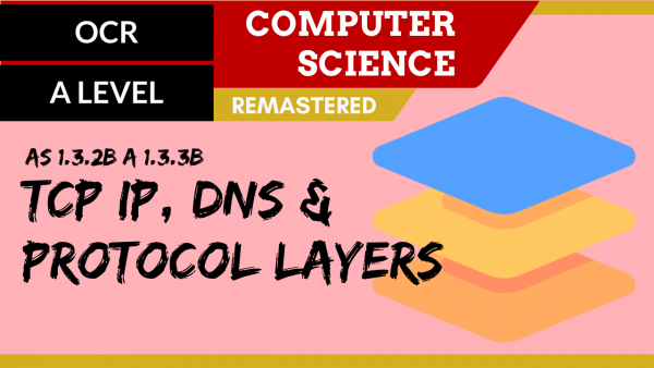 OCR A'LEVEL SLR11 TCP IP, DNS & Protocol layers