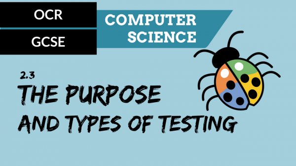 OCR GCSE SLR2.3 The purpose and types of testing
