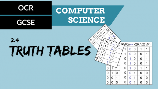 OCR GCSE SLR2.4 Truth tables