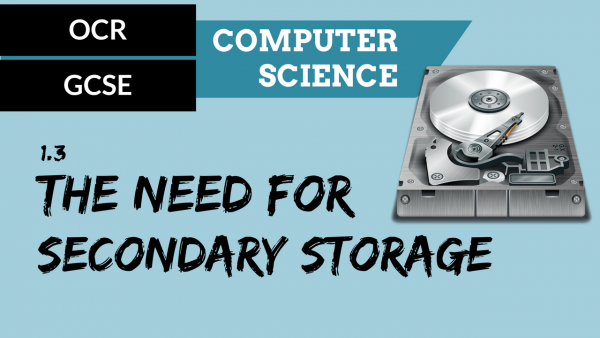 OCR GCSE SLR1.3 The need for secondary storage