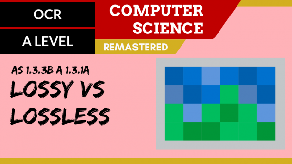 OCR A'LEVEL SLR12 Lossy vs Lossless