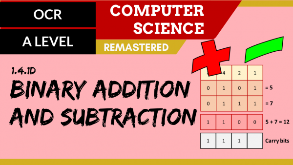 OCR A'LEVEL SLR13 Binary Addition and Subtraction