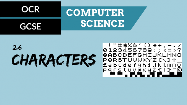 OCR GCSE SLR2.6 Characters