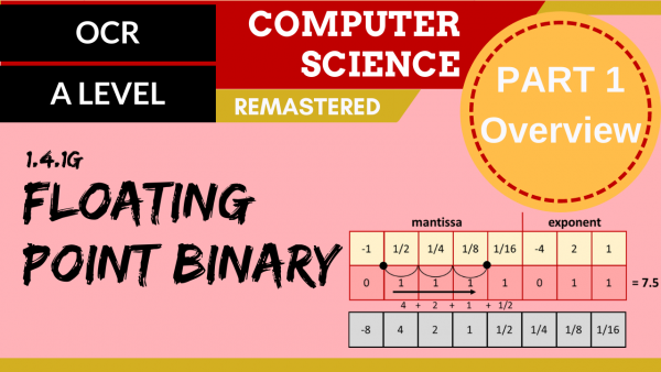 OCR A'LEVEL SLR13 Floating point binary – Part 1