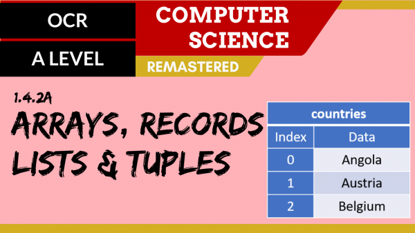 OCR A'LEVEL SLR14 Arrays, records, lists & tuples