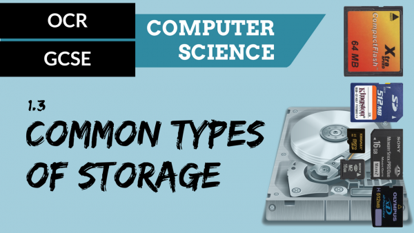 OCR GCSE SLR1.3 Common Types of Storage