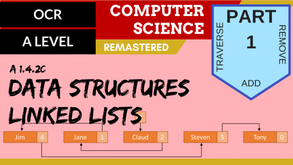 OCR A'LEVEL SLR14 Data Structures C,T,A,R Part 1 Linked Lists