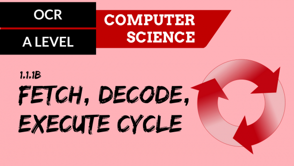 OCR A'LEVEL SLR01 Fetch decode execute cycle