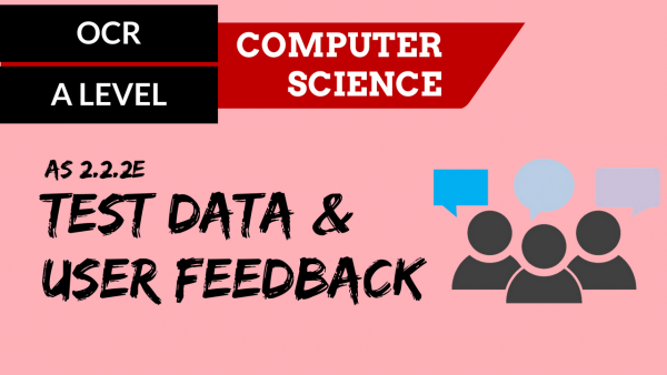 OCR A'LEVEL SLR06 Test Data & User Feedback