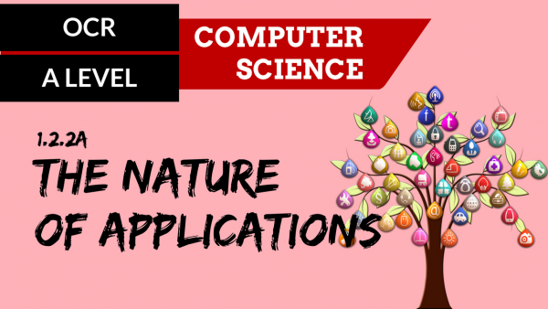 OCR A'LEVEL SLR05 The nature of applications