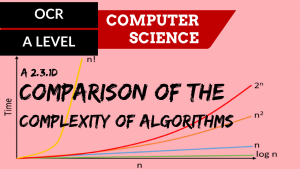 OCR A'LEVEL SLR26 Comparison of the complexity of algorithms
