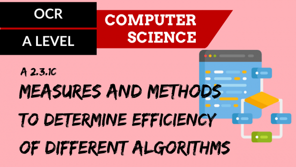 OCR A'LEVEL SLR26 Measures and methods to determine the efficiency of different algorithms, Big O notation
