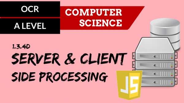 OCR A'LEVEL SLR12 Sever & client side processing