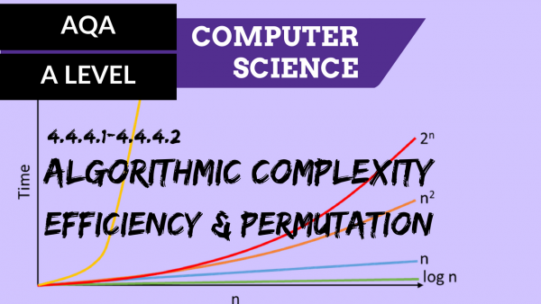 AQA A'Level SLR08 Algorithmic complexity, efficiency & permutation