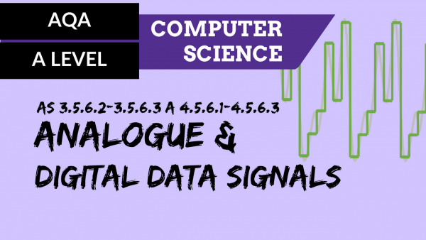 AQA A'Level SLR13 Analogue and digital data signals