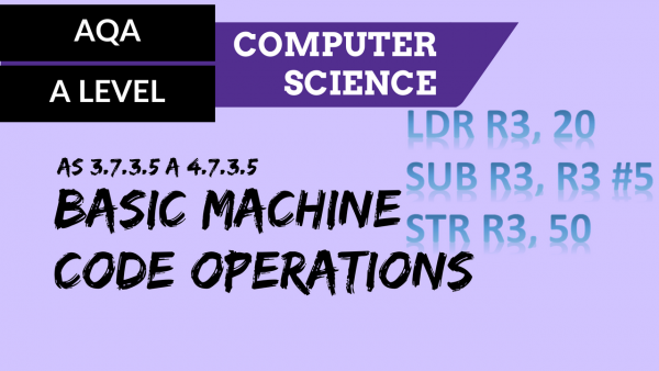 AQA A'Level SLR17 Basic machine code operations
