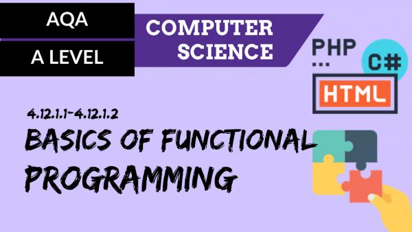 AQA A'Level SLR25 Basics of functional programming