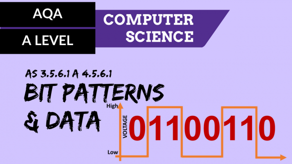 AQA A'Level SLR12 Bit patterns and data