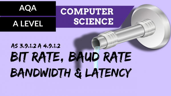 AQA A'Level SLR20 Bit rate, baud rate, bandwidth and latency
