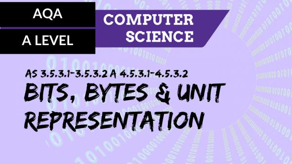 AQA A'Level SLR10 Bits, bytes and unit representation