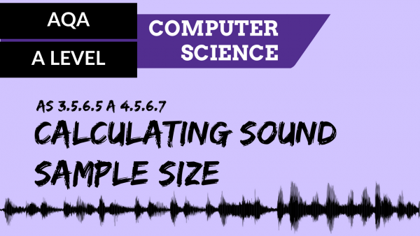 AQA A'Level SLR13 Calculating sound sample size