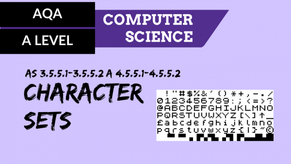 AQA A'Level SLR12 Character sets