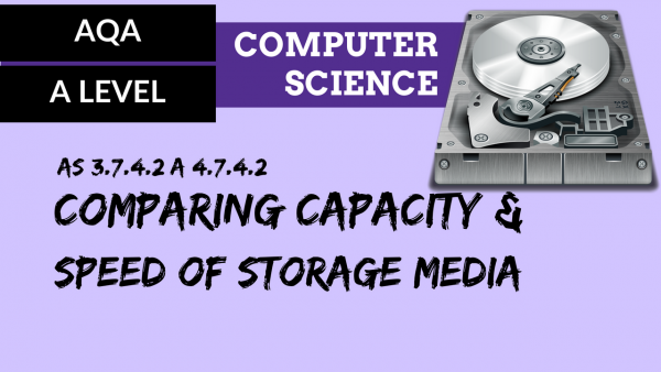 AQA A'Level SLR18 Comparing capacity and speed of storage media