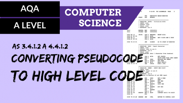AQA A'Level SLR06 Converting pseudocode to high level code