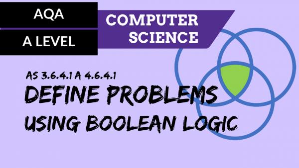 AQA A'Level SLR16 Define problems using Boolean logic